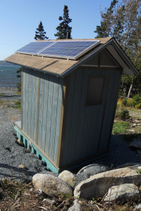 compost toilet solar panels